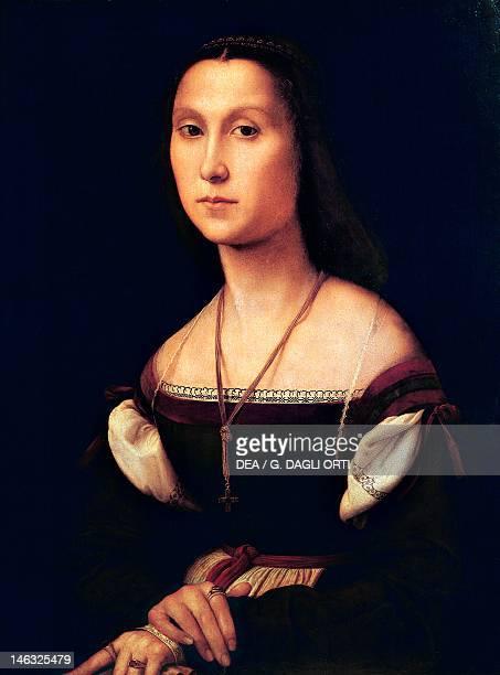 Urbino Palazzo Ducale Portrait of a Woman called La Muta 15071508 by Raphael Sanzio oil on panel 80x60 cm