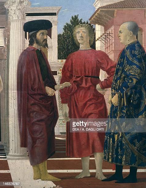 Urbino Palazzo Ducale The flagellation of Christ 14441469 by Piero della Francesca Tempera on panel 58x815 cm Detail