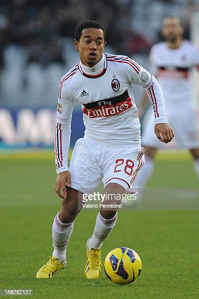Urby Emanuelson of AC Milan in action during the Serie A match between Torino FC and AC Milan at Stadio Olimpico di Torino on December 9 2012 in...