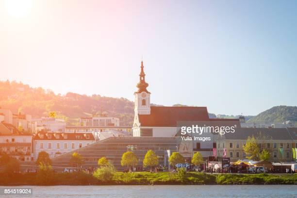 urfahrer josefskirche church in linz, austria - linz stock pictures, royalty-free photos & images