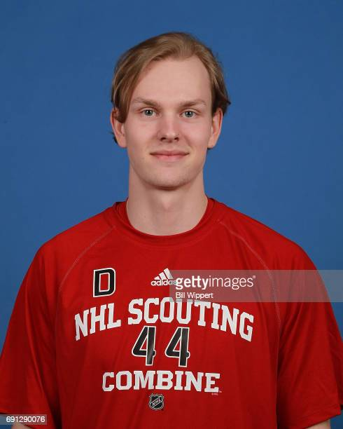 Urho Vaakanainen poses for a headshot at the NHL Combine at HarborCenter on June 1 2017 in Buffalo New York