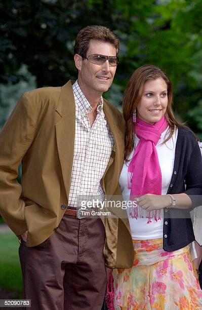 Uri Geller With His Daughter Natalie At A Celebrity Party Hosted By Broadcaster Sir David Frost In Chelsea