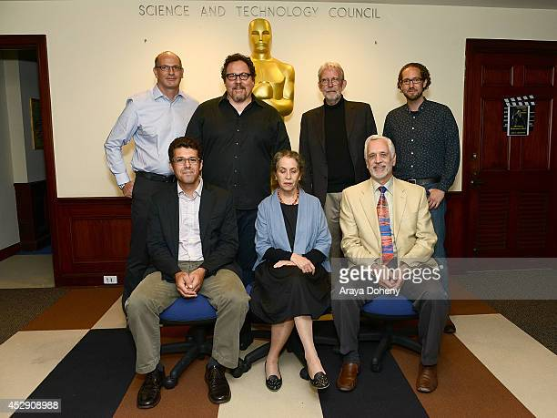 Uri Hasson Jon Favreau Walter Murch Tim J Smith Jeffrey M Zacks Talma Hendler and James Cutting attend The Academy Probes Movies In Your Brain with...
