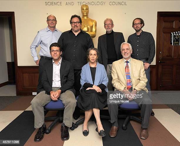 Uri Hasson Jon Favreau Walter Murch Tim J Smith Jeffrey M Zacks Talma Hendler and James Cutting attend The Academy Probes Movies In Your Brain at...