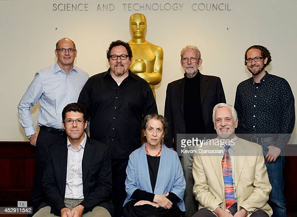 Uri Hasson writer/director Jon Favreau film editor/sound designer Walter Murch host Tim J Smith Jeffery M Zacks Talma Handler and James Cutting pose...