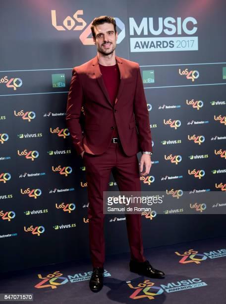 Uri Sabat attends 40 Principales Awards candidates dinner 2017 on September 14 2017 in Madrid Spain