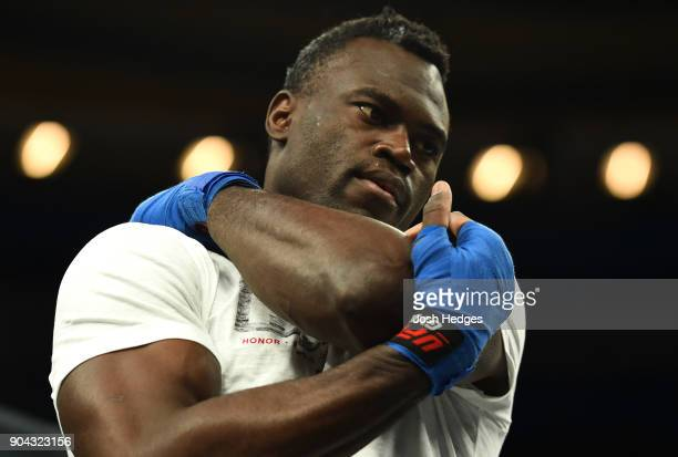 Uriah Hall of Jamaica holds an open workout for fans and media at the Scottrade Center on January 12 2018 in St Louis Missouri
