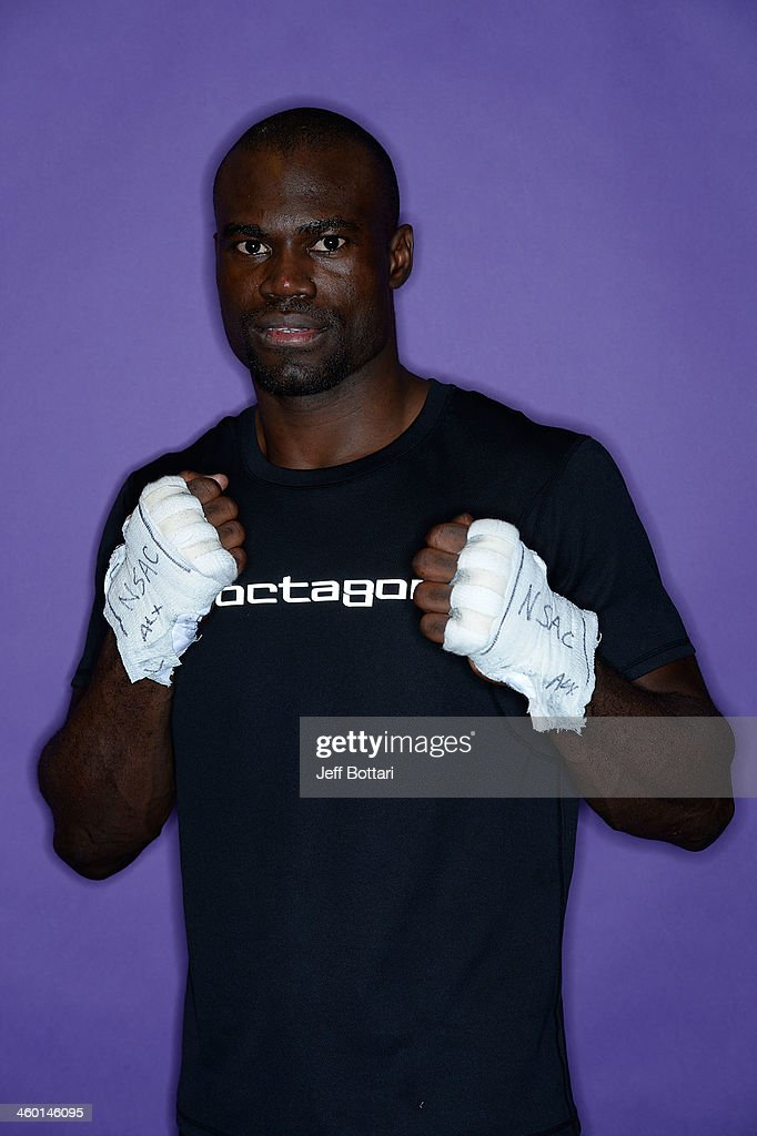 Uriah Hall poses for a portrait after defeating Chris Leben in their middleweight bout during the UFC 168 event at the MGM Grand Garden Arena on December 28, 2013 in Las Vegas, Nevada.