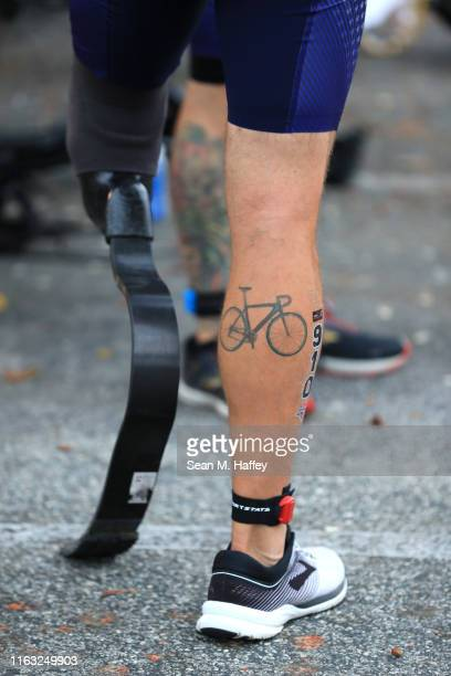 Uriah Steffen prepares to compete during the Legacy Triathlon-USA Paratriathlon National Championships on July 20, 2019 in Long Beach, California.