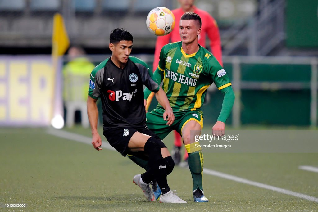 Uriel Antuna Of Fc Groningen Bas Kuipers Of Ado Den Haag During The News Photo Getty Images