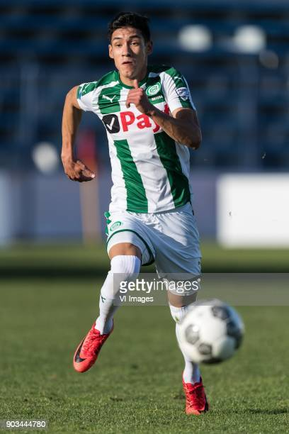 Uriel Antuna of FC Groningen during the friendly match between FC Groningen and Club Brugge at Estadio Municipal on January 10 2018 in Marbella Spain