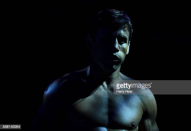 Urijah Faber walks to the Octagon for his fight against Dominick Cruz in their UFC bantamweight championship bout during the UFC 199 event at The...