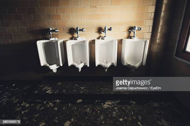 Urinals In Abandoned Public Building
