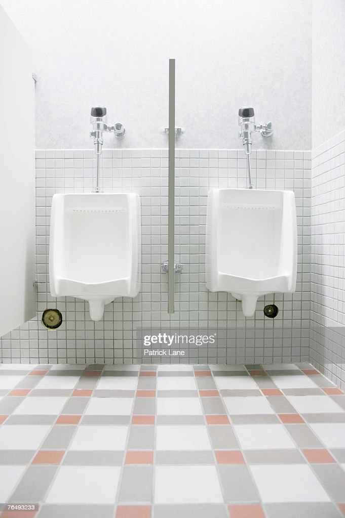 Urinals In Public Bathroom