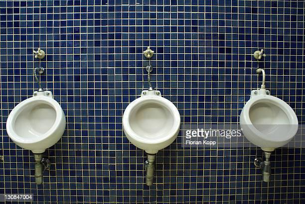 Urinals in the men´s restroom