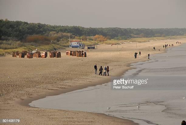 Urlauber am Strand, Ostseebad Zinnowitz, Ostsee-Insel Usedom, Mecklenburg-Vorpommern, Deutschland, Europa, Ostseeinsel, Reise, DIG, AS, Meer, ;...