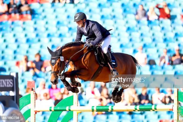 c13cc9153d5 Urmas Raag riding Ibelle van de Grote Haart during Nations Cup Part 1 of  the Equestrian