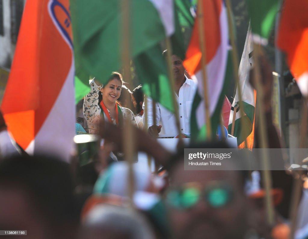IND: Congress Candidate Urmila Matondkar Campaigns For Lok Sabha Elections