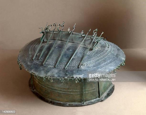 Urn shaped like a hut from Vulci Etruscan civilization 8th Century BC Rome Museo Nazionale Etrusco Di Villa Giulia