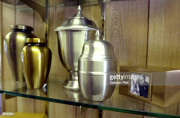 Urns for cremation ashes and other memorials are sold February 24 2001 at the Hartsdale Canine Cemetery in Westchester New York The cemetery with...