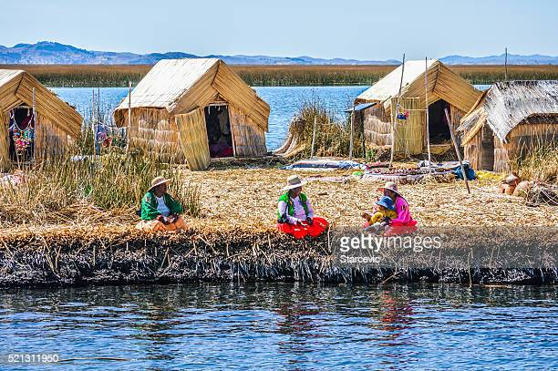 Uros Islands on Lake Titicaca in Peru
