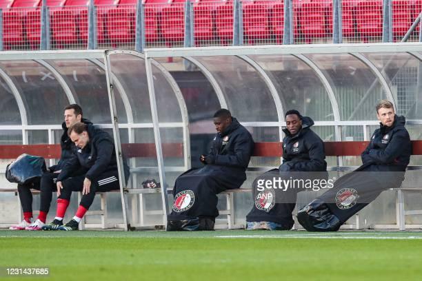 Uros Spajic of Feyenoord, Mark Diemers of Feyenoord, Christian Conteh of Feyenoord, Ridgeciano Haps of Feyenoord, Nicolai Jorgensen of Feyenoord...