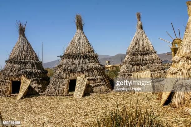 Uros village in Lake Titicaca