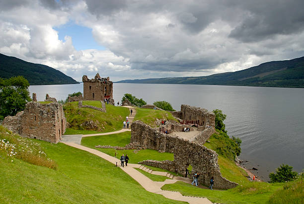 Urqhart Castle and Loch Ness.