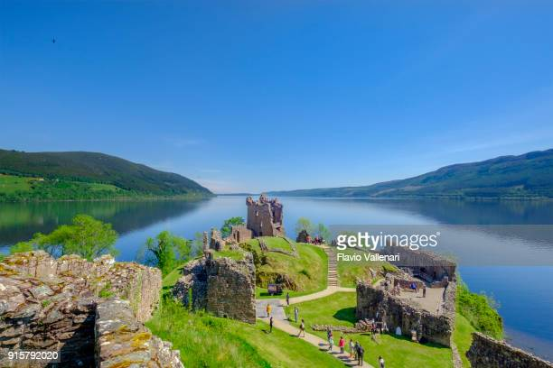 urquhart castle, loch ness, scotland - loch ness stock photos and pictures