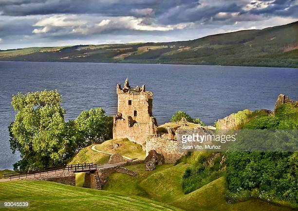 urquhart castle - loch ness stock photos and pictures