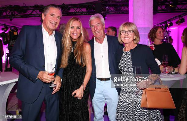 Urs Brunner and Fashion designer Daniela Brunner and guests during the vegan fashion show store opening and dinner of Giulia Romeo at Maximilian...