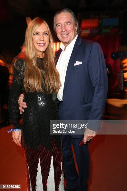 Urs Brunner and his wife Daniela Brunner during Michael Kaefer's 60th birthday celebration at Postpalast on February 2 2018 in Munich Germany