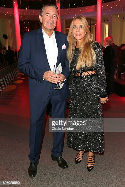 Urs Brunner and his wife Daniela Brunner during the PIN Party Let's party 4 art' at Pinakothek der Moderne on November 26 2016 in Munich Germany