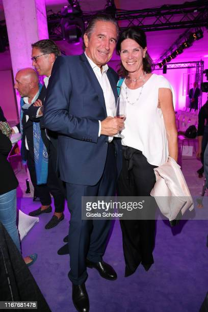 Urs Brunner and Uschi Mueller CMO Motel One during the vegan fashion show store opening and dinner of Giulia Romeo at Maximilian Arkaden on September...