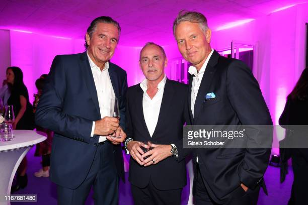 Urs Brunner Dietmar Schuelein Managing Director Wempe Maximilianstrasse and guest during the vegan fashion show store opening and dinner of Giulia...