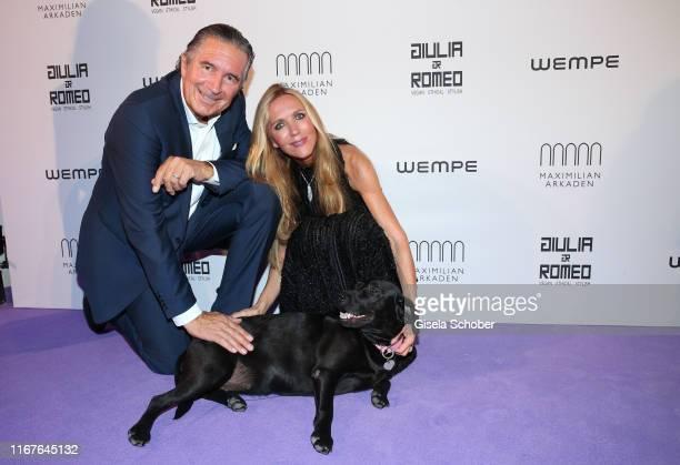 Urs Brunner Fashion designer Daniela Brunner and her dog Greta during the vegan fashion show store opening and dinner of Giulia Romeo at Maximilian...