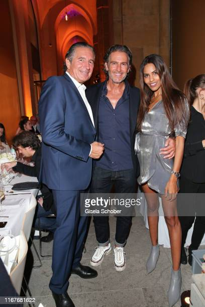 Urs Brunner Hannes Ritter and his girlfriend Jill Asemota during the vegan fashion show store opening and dinner of Giulia Romeo at Maximilian...