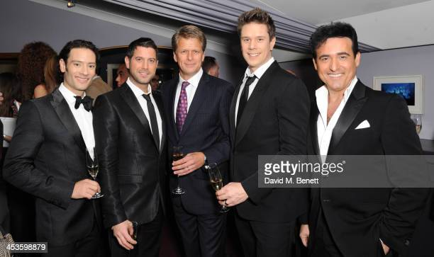 Urs Buhler Sebastien Izambard Andrew Castle David Miller and Carlos Marin attends Best Beginnings at the grand opening of The Statoil Masters Tennis...