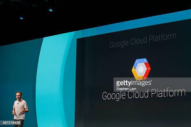Urs Holzle Senior Vice President for Technical Infrastructure at Google speaks on the Google Cloud Platform during the Google I/O Developers...
