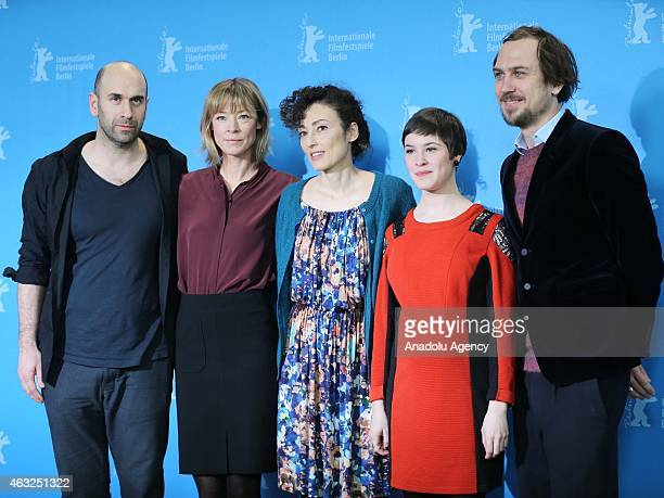 Urs Jucker Jenny Schily Stina Werenfels Victoria Schulz and Lars Eidinger attend the 'Dora or The Sexual Neuroses of Our Parents' photocall during...