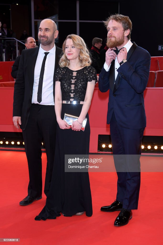 Urs Jucker, Julia Zange and Stefan Konarske attend the 'My Brother's Name is Robert and He is an Idiot' (Mein Bruder heisst Robert und ist ein Idiot) premiere during the 68th Berlinale International Film Festival Berlin at Berlinale Palast on February 21, 2018 in Berlin, Germany.
