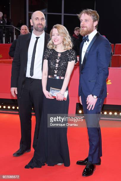Urs Jucker Julia Zange and Stefan Konarske attend the 'My Brother's Name is Robert and He is an Idiot' premiere during the 68th Berlinale...