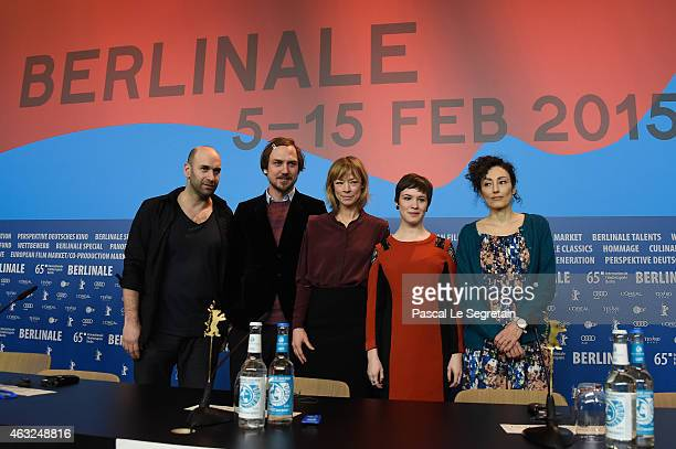 Urs Jucker Lars Eidinger Jenny Schily Victoria Schulz and Stina Werenfels attend the 'Dora or The Sexual Neuroses of Our Parents' photocall during...