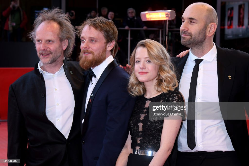 Urs Jucker, Philip Groening, Julia Zange and Stefan Konarske attend the 'My Brother's Name is Robert and He is an Idiot' (Mein Bruder heisst Robert und ist ein Idiot) premiere during the 68th Berlinale International Film Festival Berlin at Berlinale Palast on February 21, 2018 in Berlin, Germany.