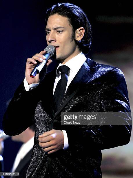 Urs Toni Buhler of Il Divo during Il Divo in Concert at Wembley Arena in London April 12 2006 at Wembley Arena in London Great Britain
