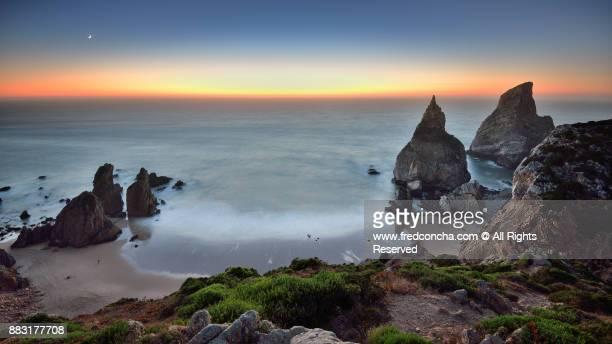 Ursa beach at Cabo da Roca n the wilderness of Sintra Natural Park