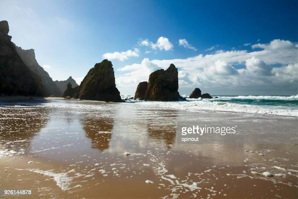 ursa beach - sintra stock pictures, royalty-free photos & images