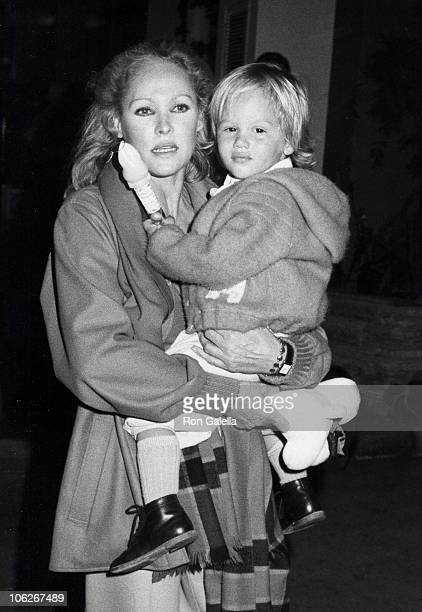 Ursala Andress and Dimitri Hamlin during Bob Newhart with Family at Easter Sunday Brunch April 11 1982 at Beverly Hill Hotel in Beverly Hills...