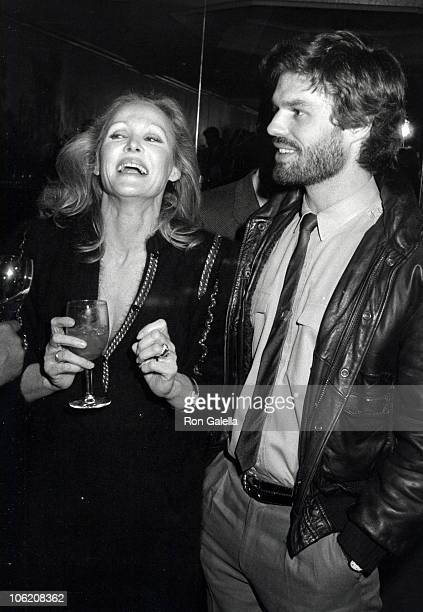 Ursala Andress and Harry Hamlin during Clio Goldsmith's Party January 11 1983 at Jimmy's Restaurant in Beverly Hills California United States