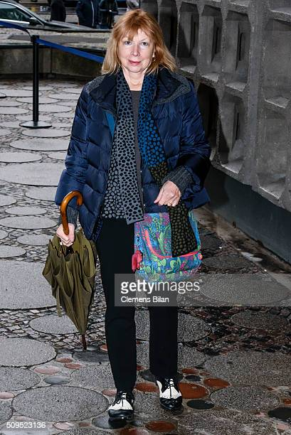 Ursela Monn attends the Wolfgang Rademann memorial service on February 11 2016 in Berlin Germany